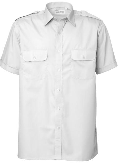 Overhemd Wit Korte Mouw.Overhemd Korte Mouw Pilot Epauletten Trend Workwear
